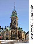 east block tower of parliament... | Shutterstock . vector #100003505