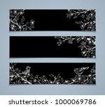 set of chalk horizontal spring... | Shutterstock . vector #1000069786