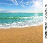 sea shore at summer sunny day | Shutterstock . vector #100026878