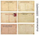 old vintage postcards. set of... | Shutterstock . vector #100044092