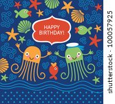 Cute Greeting Card With Funny...