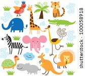 Stock vector set of vector animals 100058918