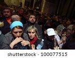 jerusalem   april 18  pilgrims...   Shutterstock . vector #100077515