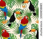tropical seamless pattern... | Shutterstock .eps vector #1000858885