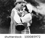 Couple embracing - stock photo