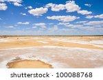 Salt Desert Near Lake Eyre...