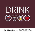 drink icons with different... | Shutterstock .eps vector #100091936