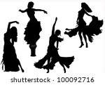 vector belly dancing black...
