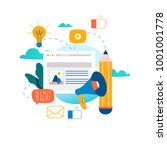 blogging  education  creative... | Shutterstock .eps vector #1001001778