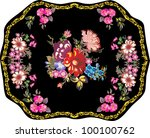 illustration with flower... | Shutterstock . vector #100100762