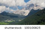 monte pelmo  3168 m   dolomites ... | Shutterstock . vector #100100825