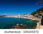 seafront of lloret de mar | Shutterstock . vector #100103372