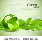 bright background with green... | Shutterstock .eps vector #100113056