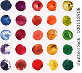 watercolor hand painted palette | Shutterstock . vector #100113908