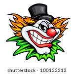 Angry Circus Clown Or Joker In...