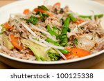 healthy chicken stir fry with...