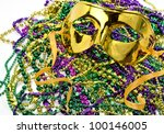Mardi Gras Masquerade Mask On ...