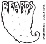 cartoon beard word | Shutterstock . vector #100154846