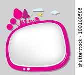 children silhouettes playground ... | Shutterstock .eps vector #100160585