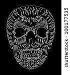 tribal skull | Shutterstock .eps vector #100177535