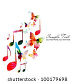 colorful music background | Shutterstock .eps vector #100179698