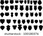 black badges | Shutterstock .eps vector #100180376