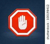 stop sign | Shutterstock .eps vector #100198412
