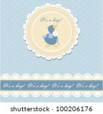 baby beautiful boy card with... | Shutterstock .eps vector #100206176