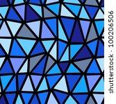 seamless blue geometric pattern. | Shutterstock .eps vector #100206506