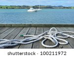 A White Sailing Rope Lying On ...