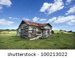 Old Deserted Wooden Farm House...