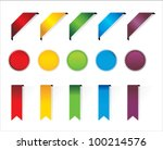 ribbons and stickers set. | Shutterstock .eps vector #100214576