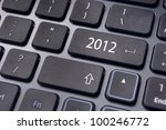 Photo of close up on keyboard pad, for 2012 year conceptual usage. - stock photo