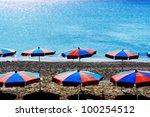 Sunshade At The Beach On A Ver...