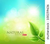 Green Leaf Natural Background ...