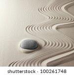 zen buddhism spiritual japanese ... | Shutterstock . vector #100261748