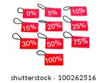 different red tags with the... | Shutterstock . vector #100262516