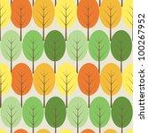 vector trees seamless pattern   Shutterstock .eps vector #100267952