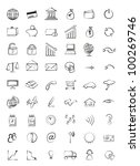 web icons finance  business | Shutterstock . vector #100269746