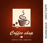 template of coffee shop | Shutterstock .eps vector #100272695