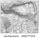 vintage map of the old and the... | Shutterstock . vector #100277102