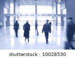 walking people inside modern...   Shutterstock . vector #10028530