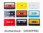 collection of retro audio... | Shutterstock . vector #100309982