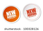 new arrival stickers | Shutterstock .eps vector #100328126