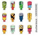 set of twelve monsters | Shutterstock .eps vector #100330082