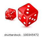 red dices   Shutterstock .eps vector #100345472
