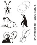 Stylized Images Of Animals  Fo...