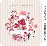 magic mushrooms for your design | Shutterstock .eps vector #10034779