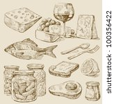 kitchen set | Shutterstock .eps vector #100356422