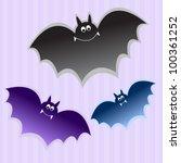 bat kids stickers - stock vector